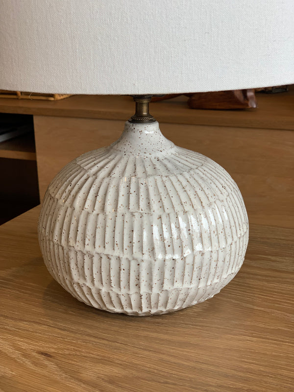 Lionel Table Lamp in Speckled White