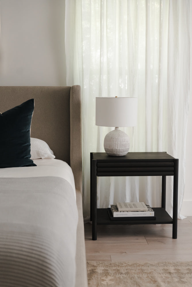 Parker Bedside Table - Ebonized