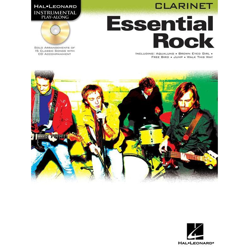 HAL LEONARD ESSENTIAL ROCK FOR CLARINET - Arties Music Online