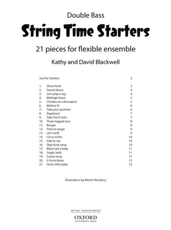 STRING TIME STARTERS DOUBLE BASS