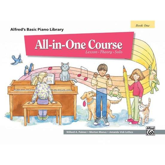 ALFRED'S BASIC PIANO ALL-IN-ONE COURSE BOOK 1