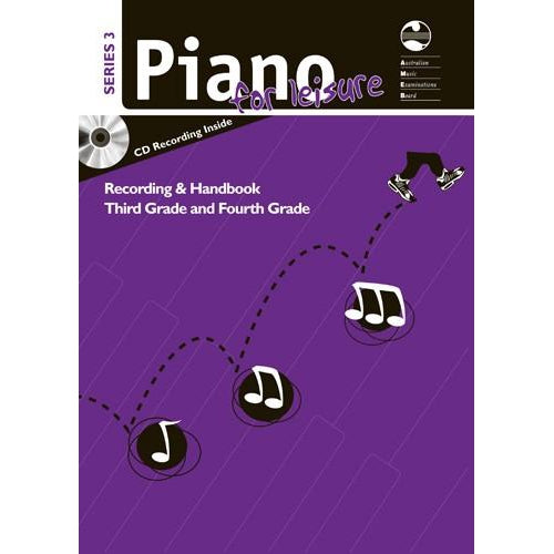 AMEB PIANO FOR LEISURE SERIES 3 RECORDING & HANDBOOK (GR 3 & 4) - Arties Music Online