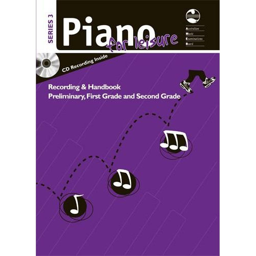 AMEB PIANO FOR LEISURE SERIES 3 RECORDING & HANDBOOK (PRELIM TO GR2) - Arties Music Online