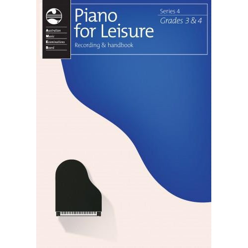 AMEB PIANO FOR LEISURE SERIES 4 - RECORDING & HANDBOOK (GR 3&4)