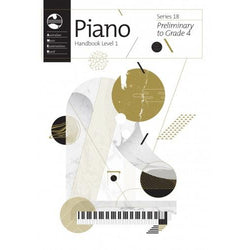 AMEB PIANO SERIES 18 HANDBOOK - PRELIM TO GR 4