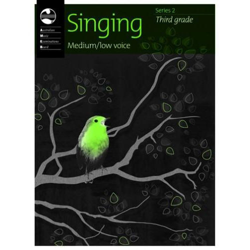 AMEB SINGING (MEDIUM/LOW VOICE) SERIES 2 - GRADE 3 - Arties Music Online