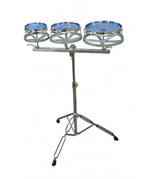 DXP TUNABLE ROTO TOM 6/8/10 INCH SET W/ DOUBLE BRACED STAND - Arties Music Online