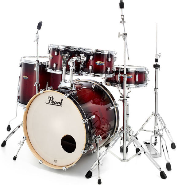 Pearl Decade Maple 22-Inch Fusion Plus Drum Kit + Hardware (Gloss Deep Red Burst)