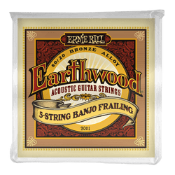 ERNIE BALL EARTHWOOD 80/20 BRONZE 5-STRING BANJO LOOP END STRINGS 10-24 FRAILING