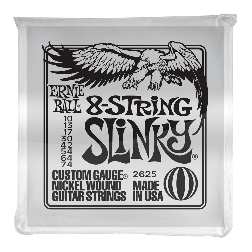 ERNIE BALL NICKEL WOUND 8-STRING ELECTRIC GUITAR STRINGS SLINKY 10-74 - Arties Music Online