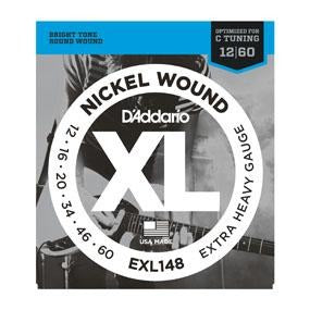 DADDARIO XL NICKEL WOUND ELECTRIC GUITAR STRINGS EXTRA HEAVY GAUGE 12-60 - Arties Music Online