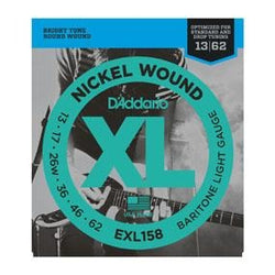 DADDARIO XL NICKEL WOUND ELECTRIC GUITAR STRINGS BARITONE LIGHT GAUGE 12-60