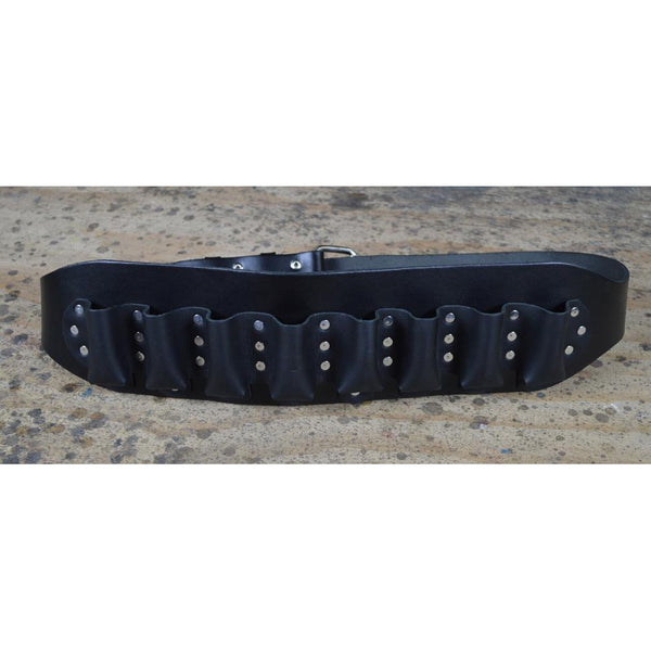 COLONIAL LEATHER HARMONICA BELT (HOLDS 8 HARMONICAS)