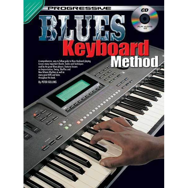 Progressive Blues Keyboard Method Book/CD - Arties Music Online