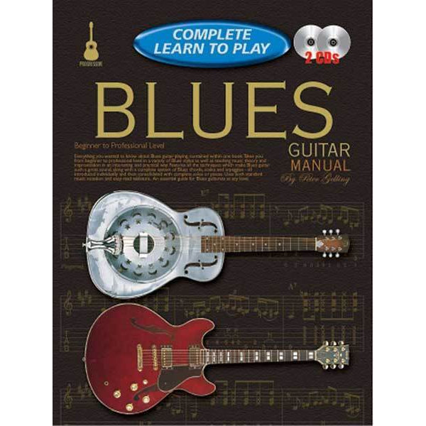 Progressive Complete Learn To Play Blues Guitar Book/CD(2) - Arties Music Online