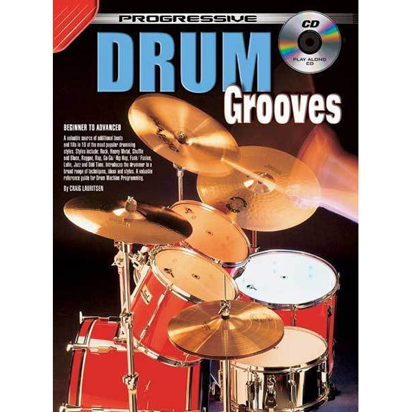 Progressive Drum Grooves Book/CD - Arties Music Online