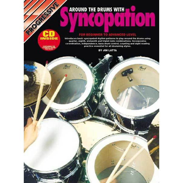 Progressive Around The Drums with Syncopation Book/CD - Arties Music Online
