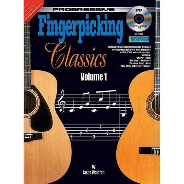Progressive Fingerpicking Classics Volume 1 Book/CD - Arties Music Online