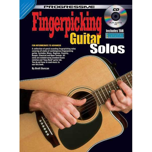 Progressive Fingerpicking Guitar Solos Book/CD - Arties Music Online