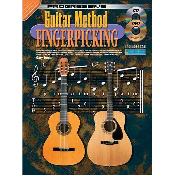 Progressive Guitar Method Fingerpicking Book/CD/DVD - Arties Music Online