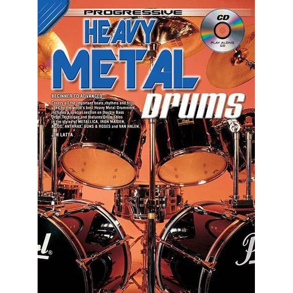 Progressive Heavy Metal Drums Book/CD - Arties Music Online