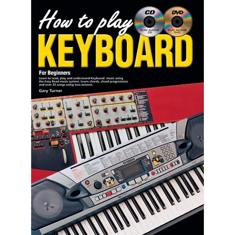How To Play Keyboard for Beginners Book/CD/DVD - Arties Music Online