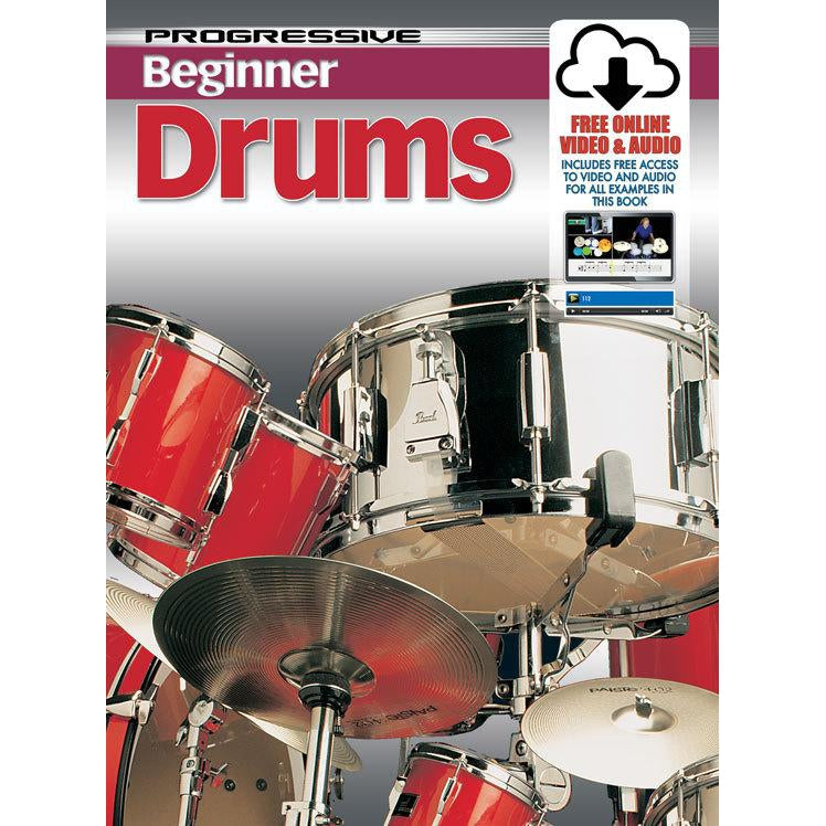 Progressive Beginner Drums  Book/Online Video & Audio - Arties Music Online