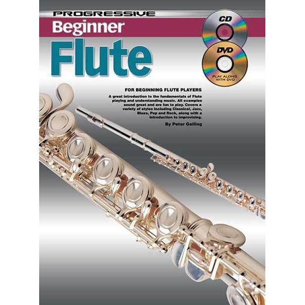 Progressive Beginner Flute Book/CD/DVD