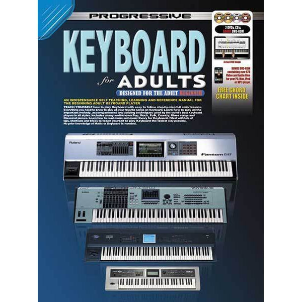 Progressive Keyboard for Adults Book/CD/DVD(2)/DVD-Rom - Arties Music Online