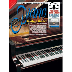 Progressive Piano Method  Book 1 Book/Online Video & Audio
