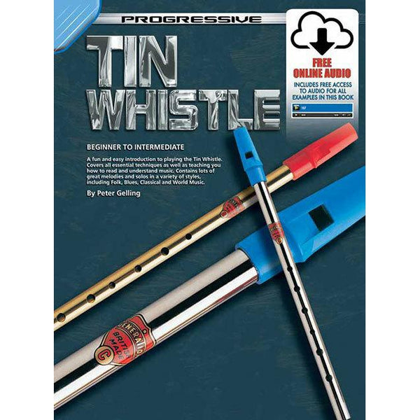 Progressive Tin Whistle Book w/ online