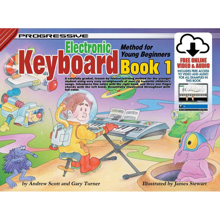 Progressive Keyboard Book 1 for Young Beginners Book/Online Video & Audio - Arties Music Online