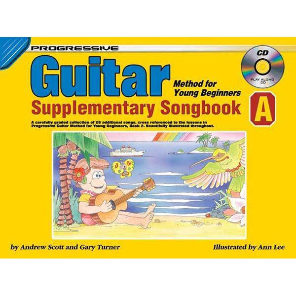 Progressive Guitar Method for Young Beginners Supplementary Songbook A Book/CD - Arties Music Online