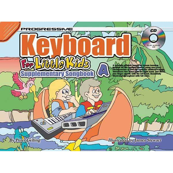 Progressive Keyboard for Little Kids Supplementary Songbook A Book/CD