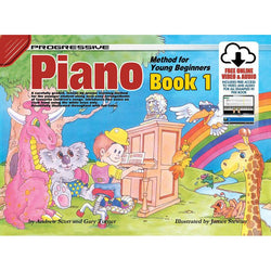 Progressive Piano Book 1 for Young Beginners Book/Online Video & Audio