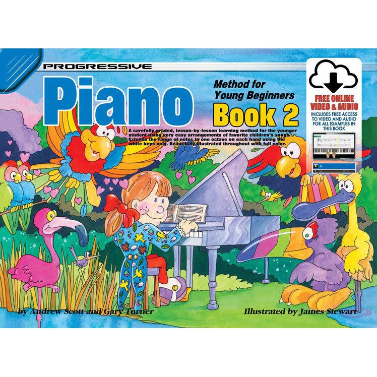 Progressive Piano Book 2 for Young Beginners Book/Online Video & Audio
