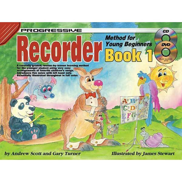 Progressive Recorder Book 1 for Young Beginners Book/CD/DVD - Arties Music Online