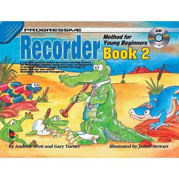 Progressive Recorder Book 2 for Young Beginners Book/CD