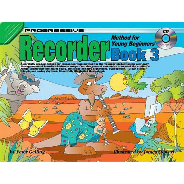 Progressive Recorder Book 3 for Young Beginners Book/CD - Arties Music Online