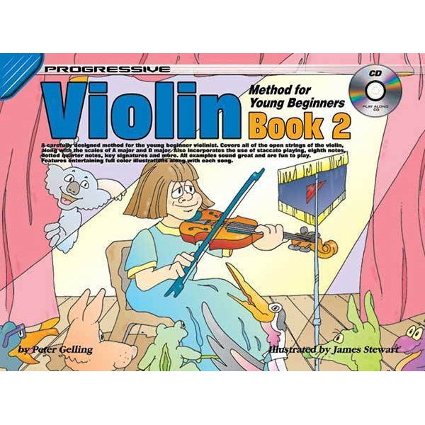 Progressive Violin Method Book 2 for Young Beginners Book/CD