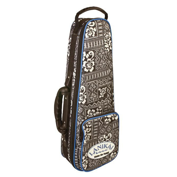 Lanikai Soprano Tribal Ukulele Hard Foam Case with Back Pack Straps - Arties Music Online