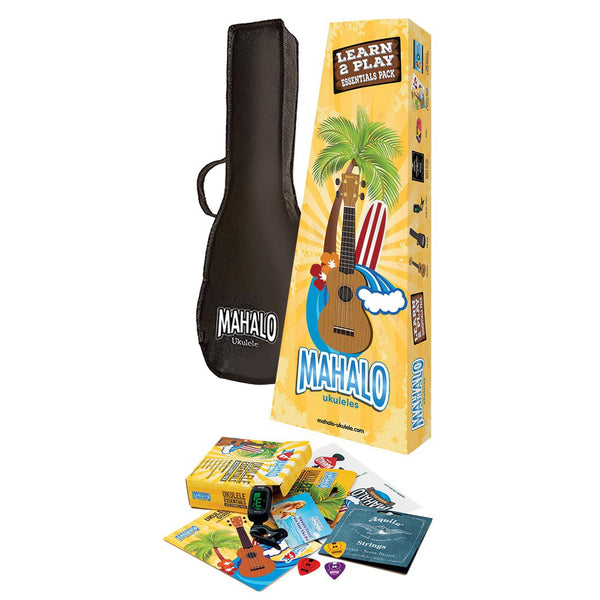 MR1BUK BLUE MAHALO K ESSENTIALS LEARN 2 PLAY UKULELE PACK