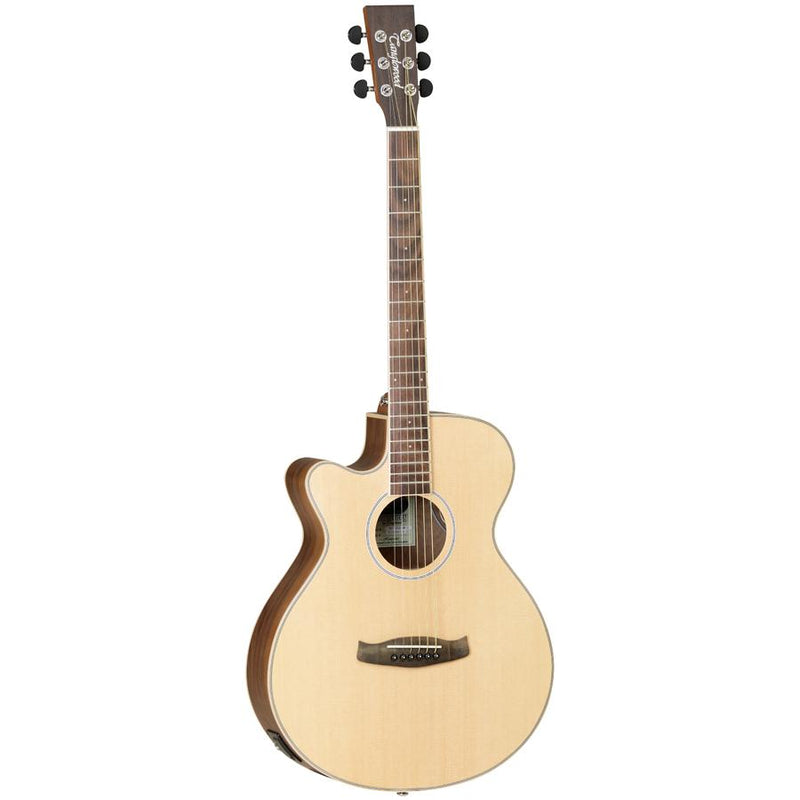 Tanglewood TDBTSFCEBWLH Discovery Exotic Black Walnut Super Folk C/E Left Handed