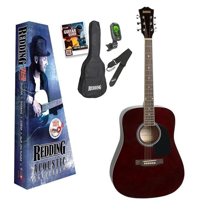 Redding 4/4 Size Dreadnought Acoustic Guitar Pack - Arties Music Online