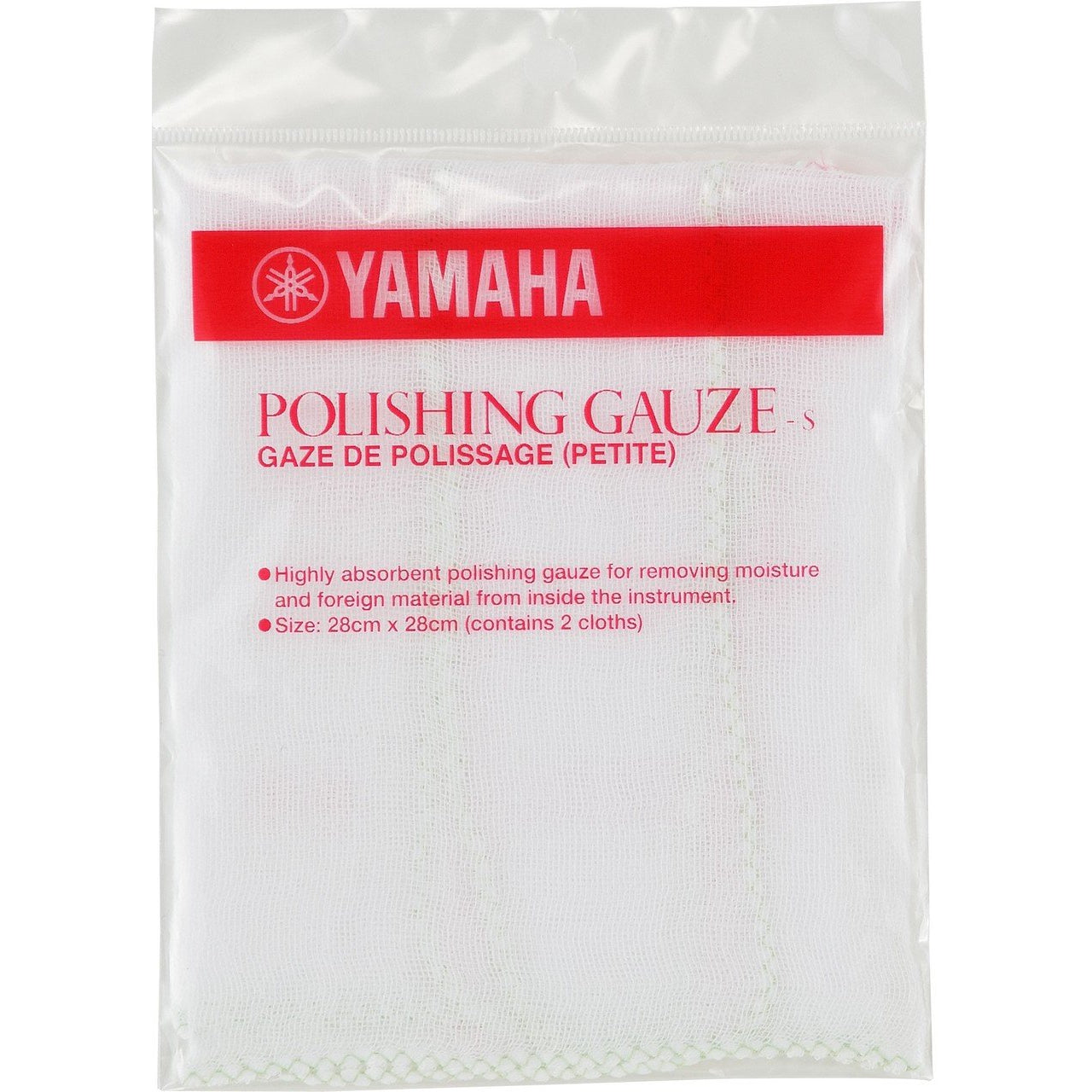 YAMAHA POLISHING GAUZE SMALL (PACK OF 2) - Arties Music Online