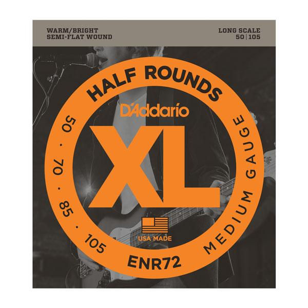 D'ADDARIO ELECTRIC BASS GUITAR STRING SET 50/105 LONG/XL HALF ROUNDS
