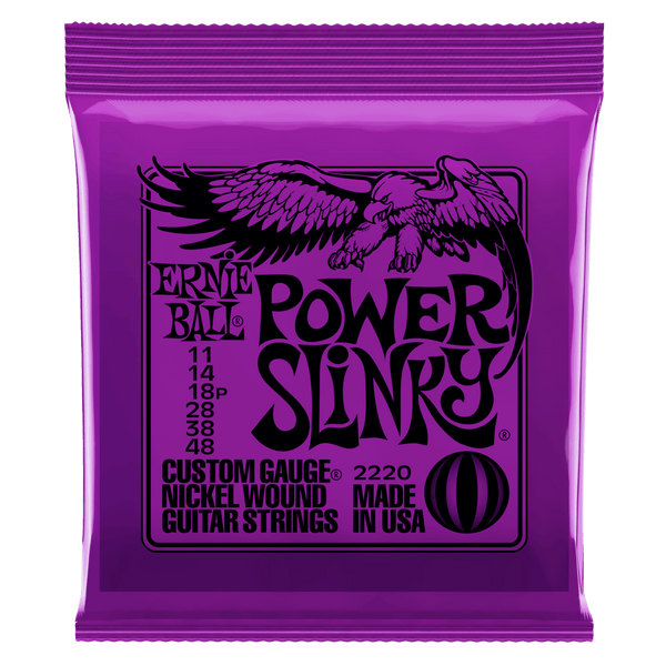 ERNIE BALL NICKEL WOUND ELECTRIC GUITAR STRINGS POWER SLINKY 11-48