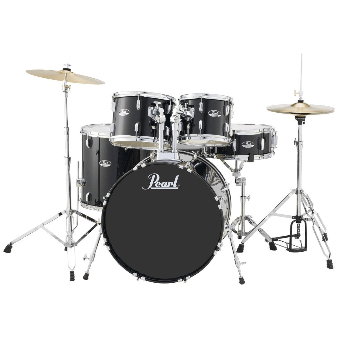 Pearl Roadshow-X 22-Inch 5-Piece Fusion Drum Kit Pack (Jet Black)