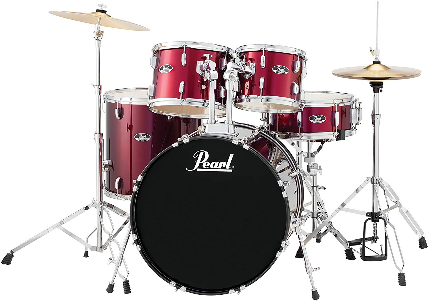 Pearl Roadshow Junior 5-Piece Drum Kit + Hardware & Cymbals (Red Wine)