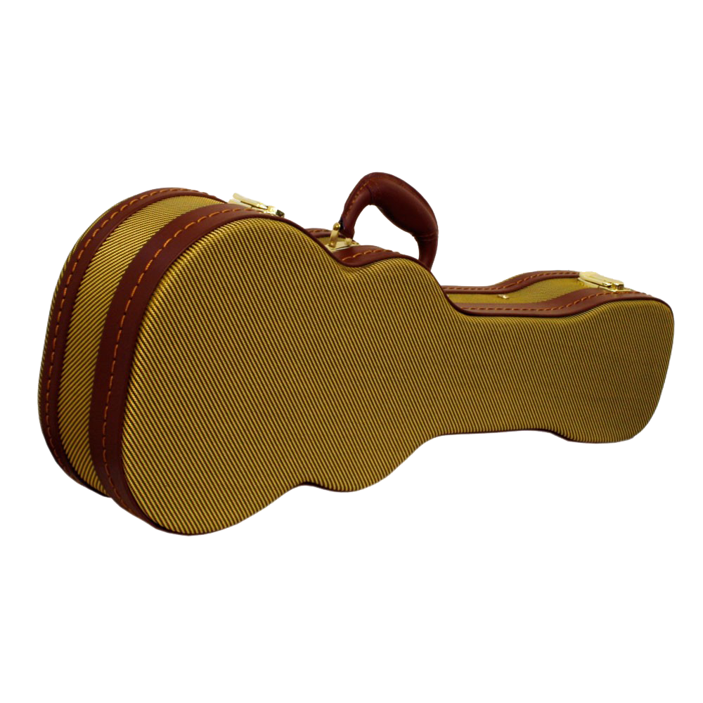 DCM WOOD BARITONE UKULELE CASE - TWEED